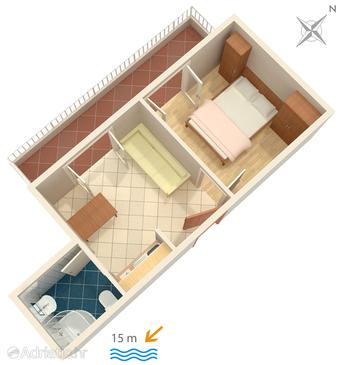Apartment A-2592-b - Apartments Promajna (Makarska) - 2592