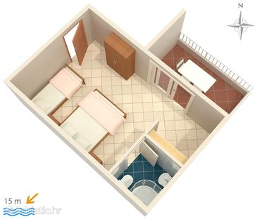 Studio flat AS-2592-a - Apartments Promajna (Makarska) - 2592