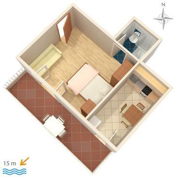 Studio flat AS-2592-d - Apartments Promajna (Makarska) - 2592