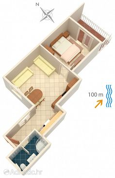 Apartment A-2593-c - Apartments Podgora (Makarska) - 2593