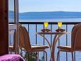Podgora, Balcony 1 u smještaju tipa apartment, s pogledom na more i WIFI.