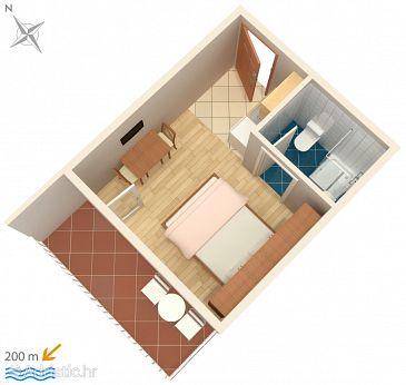 Studio flat AS-2599-a - Apartments Makarska (Makarska) - 2599