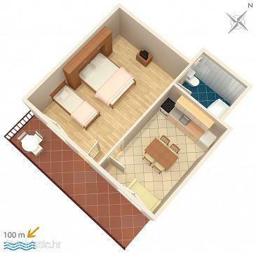 Apartment A-2608-a - Apartments Baška Voda (Makarska) - 2608