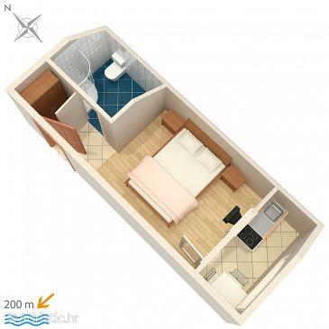 Studio flat AS-2613-c - Apartments and Rooms Podaca (Makarska) - 2613