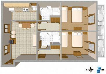 Apartament A-2616-a - Kwatery Podgora (Makarska) - 2616