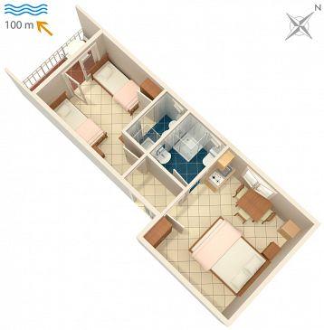 Apartament A-2617-a - Apartamenty Podaca (Makarska) - 2617
