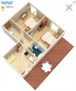 Apartament A-2617-b - Apartamenty Podaca (Makarska) - 2617