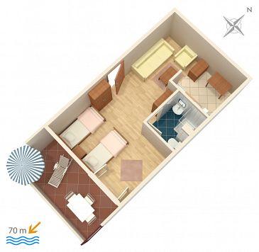 Studio flat AS-2621-a - Apartments Podaca (Makarska) - 2621