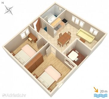 Apartment A-2623-a - Apartments and Rooms Podgora (Makarska) - 2623