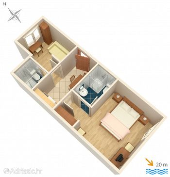 Apartment A-2623-b - Apartments and Rooms Podgora (Makarska) - 2623