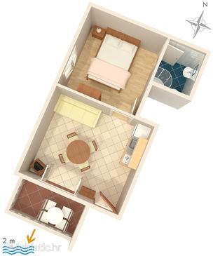 Apartment A-2625-c - Apartments Zaostrog (Makarska) - 2625