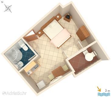 Studio flat AS-2625-a - Apartments Zaostrog (Makarska) - 2625