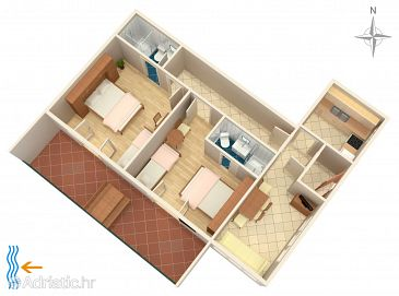 Apartment A-2630-b - Apartments Makarska (Makarska) - 2630