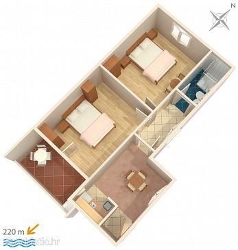 Apartment A-2631-a - Apartments Podaca (Makarska) - 2631