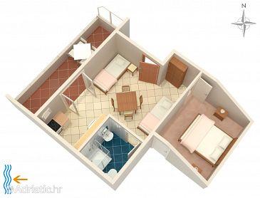 Apartment A-2633-a - Apartments Podaca (Makarska) - 2633