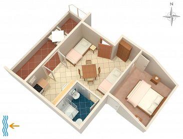 Apartament A-2633-a - Apartamenty Podaca (Makarska) - 2633