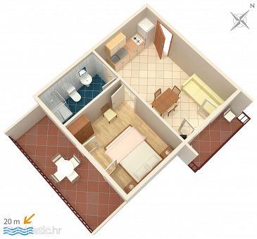 Apartment A-2637-a - Apartments Zaostrog (Makarska) - 2637