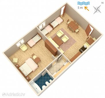 Apartment A-2647-a - Apartments Podaca (Makarska) - 2647