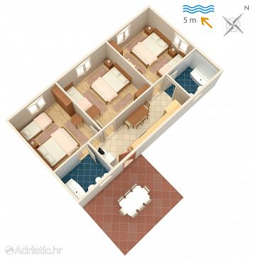 Apartment A-2647-b - Apartments Podaca (Makarska) - 2647