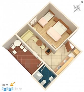 Apartment A-2649-f - Apartments Zaostrog (Makarska) - 2649