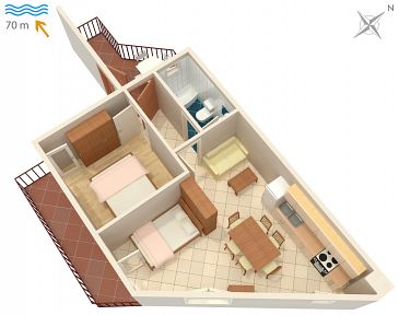 Apartment A-2659-a - Apartments Drašnice (Makarska) - 2659