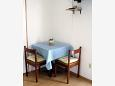 Orebić, Dining room u smještaju tipa studio-apartment, dostupna klima, dopusteni kucni ljubimci i WIFI.