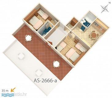 Apartment A-2666-c - Apartments Tučepi (Makarska) - 2666