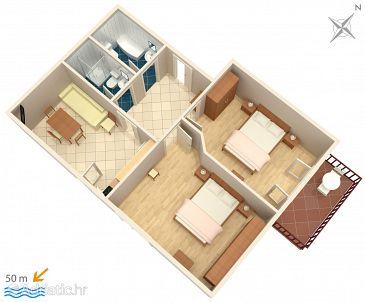 Apartment A-2668-a - Apartments Podgora (Makarska) - 2668