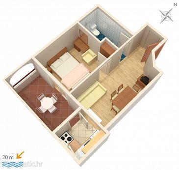 Apartment A-2670-b - Apartments Drašnice (Makarska) - 2670