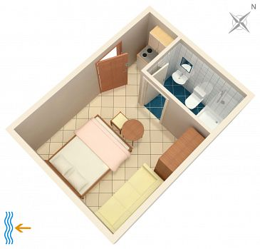 Studio flat AS-2676-b - Apartments Tučepi (Makarska) - 2676