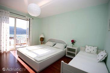 Slano, Bedroom u smještaju tipa room, dostupna klima, dopusteni kucni ljubimci i WIFI.