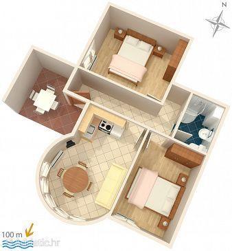 Apartment A-2686-a - Apartments Promajna (Makarska) - 2686