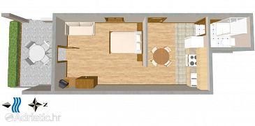 Studio flat AS-2691-a - Apartments Promajna (Makarska) - 2691