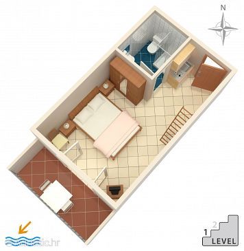 Studio flat AS-2692-e - Apartments Makarska (Makarska) - 2692