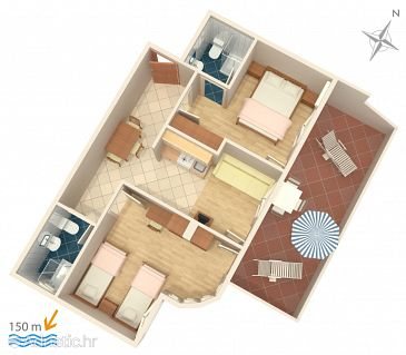 Apartment A-2698-b - Apartments Baška Voda (Makarska) - 2698