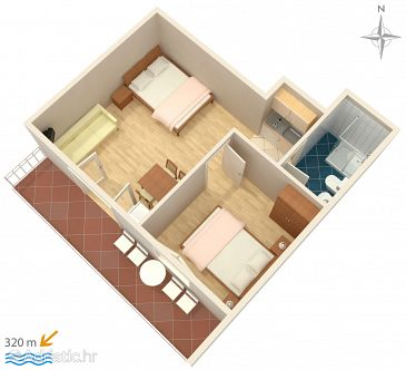 Apartment A-2708-a - Apartments and Rooms Promajna (Makarska) - 2708