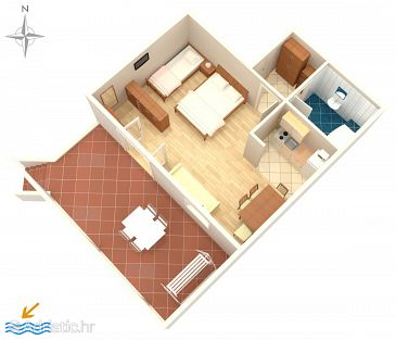 Studio flat AS-2708-a - Apartments and Rooms Promajna (Makarska) - 2708