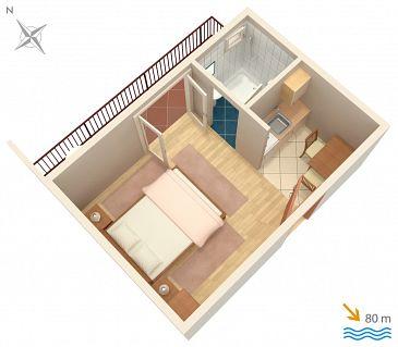 Studio flat AS-2713-d - Apartments Brela (Makarska) - 2713