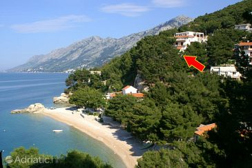 Property Brela (Makarska) - Accommodation 2713 - Apartments near sea with pebble beach.