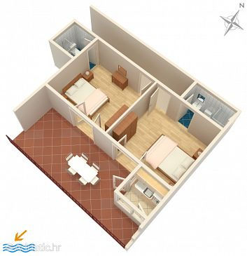 Apartment A-2716-a - Apartments and Rooms Brela (Makarska) - 2716
