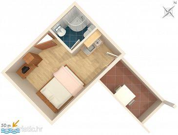 Studio flat AS-2732-a - Apartments Drvenik Donja vala (Makarska) - 2732