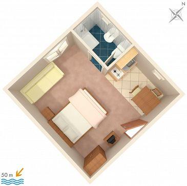 Studio AS-2732-b - Apartamenty Drvenik Donja vala (Makarska) - 2732