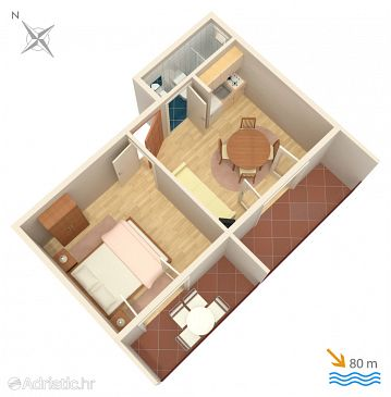 Apartment A-2735-a - Apartments Gradac (Makarska) - 2735