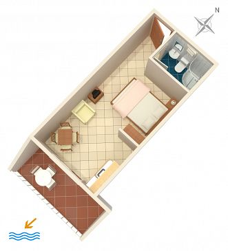 Studio flat AS-2739-c - Apartments Komarna (Ušće Neretve) - 2739