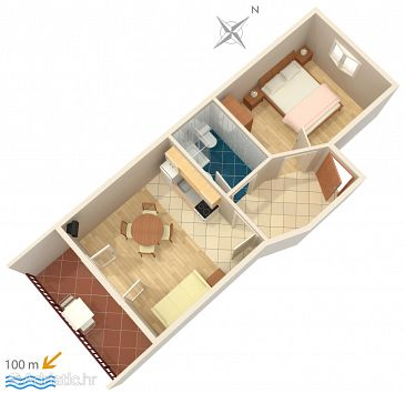 Apartment A-2742-c - Apartments Pisak (Omiš) - 2742