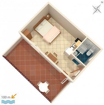 Studio flat AS-2742-a - Apartments Pisak (Omiš) - 2742