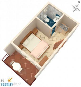 Studio flat AS-2746-b - Apartments and Rooms Duće (Omiš) - 2746
