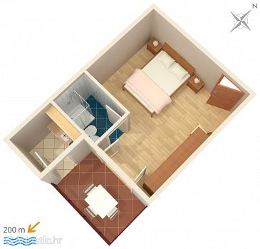 Studio flat AS-2751-a - Apartments Omiš (Omiš) - 2751