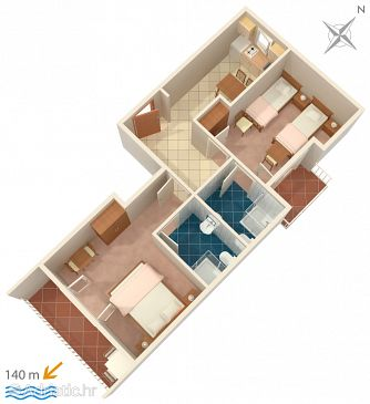 Apartment A-2752-b - Apartments and Rooms Brela (Makarska) - 2752