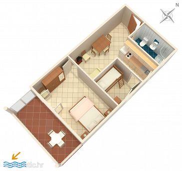Mimice, Plan u smještaju tipa apartment, WIFI.